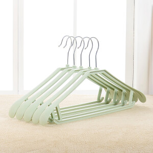 hanger wide shoulder seamless drying rack non-slip hanger dry and wet plastic drying rack adult children non-slip clothes support thickening European pink