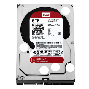 Western Digital (WD) Red Disk 6TB SATA6Gb/s 64M Network Storage (NAS) Hard Disk (WD60EFRX)