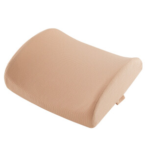 Flying (Feitian) to increase the Office of the waist cushion padded autumn and winter seats car back pad memory cotton pregnant women waist lumbar cushion beige
