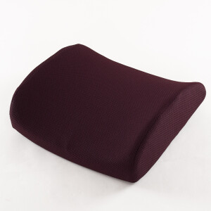 Flying (Feitian) to increase office waist cushion padded autumn and winter seats car back pad memory cotton pregnant women lumbar pillow coffee color