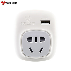 Bull (BULL) GN-911A American Standard Transfer to the national standard power converter socket / conversion plug for foreign use (the United States, Canada, Brazil, Mexico) with USB interface