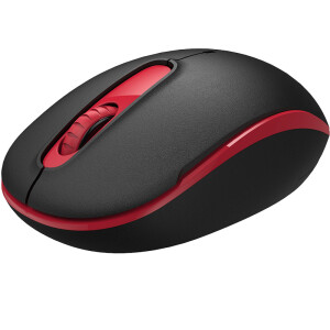 Fude M510D rechargeable mute wireless mouse game office home laptop desktop computer mouse black red