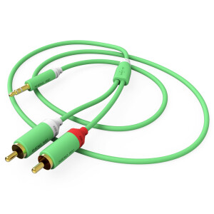 Wins (shengwei) ARC-1050D 3.5mm one sub-two audio cable 5 m green grass 3.5 turn double lotus 2RCA audio computer speaker line amplifier audio line