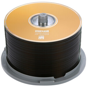 Maxell CD-R 48 speed 700M business gold plate barrels 50 burner discs