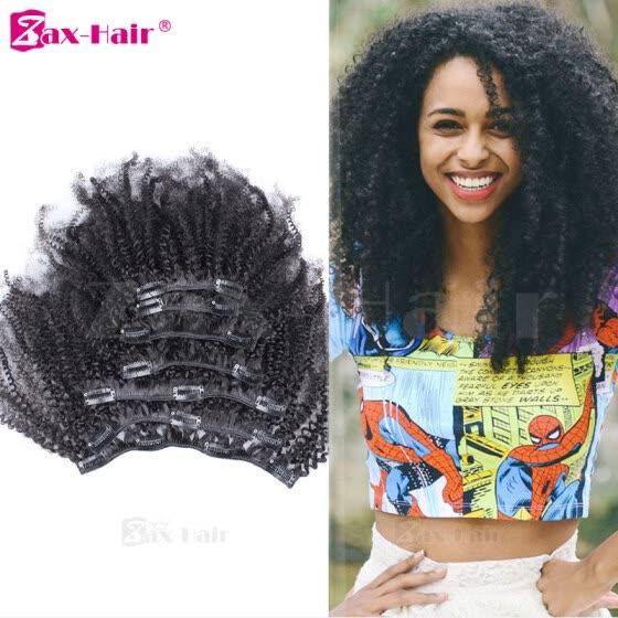 Clip In Hair Extensions Virgin Brazilian Clip In Human Hair Extensions For  Black Women Kinky Curly 3b17b557de
