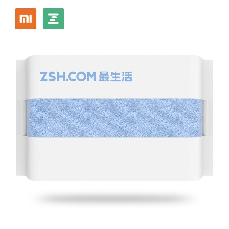 MI Xiaomi Mijia Towel Small Face Towel Long Staple Cotton Children 34*34cm/13.4*13.4inch White / Green / Blue 1PCs