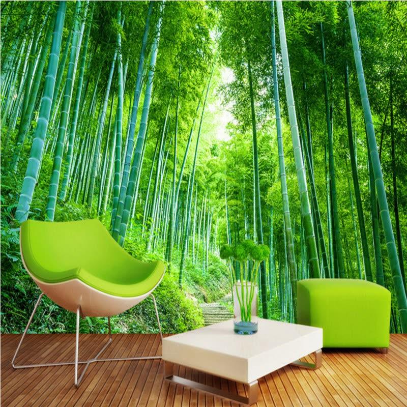 Shop 3d Photo Wallpaper Bamboo Forest Jungle Landscape