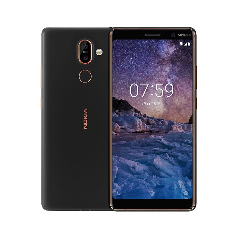 Nokia 7 Plus 4/6GB+64GB Smartphone,Black