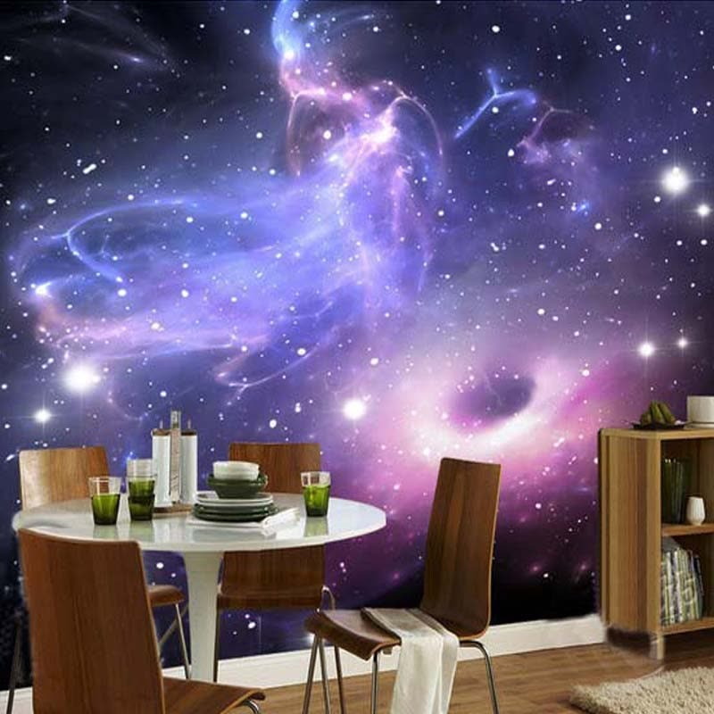 Custom Any Size 3D Wall Mural Wallpaper For Bedroom Walls Modern Abstract Universe Stars Galaxy Living