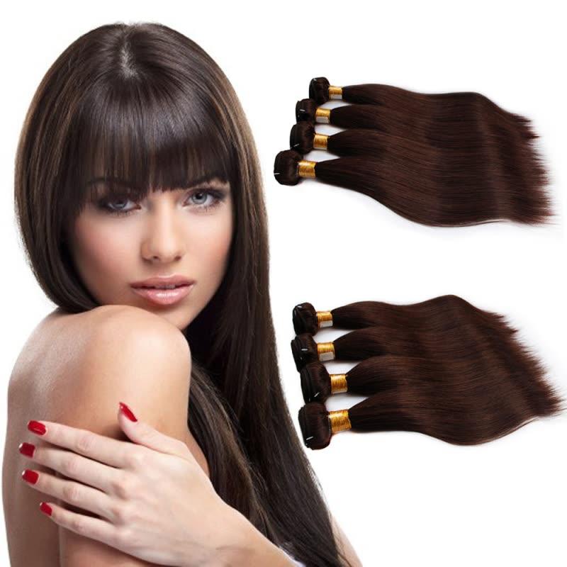 Shop Nami Hair 4 Bundles Dark Brown 2 Color Brazilian Human
