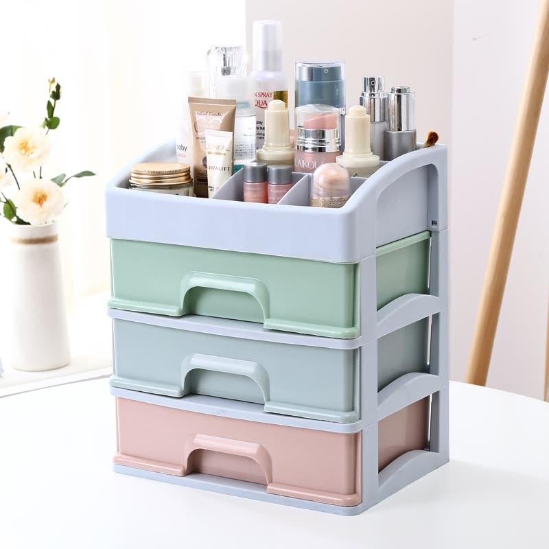 Vilscijon Victoria Drawer Storage Box Multi Layer Plastic Storage Box Large  Desktop Finishing Box Dressing