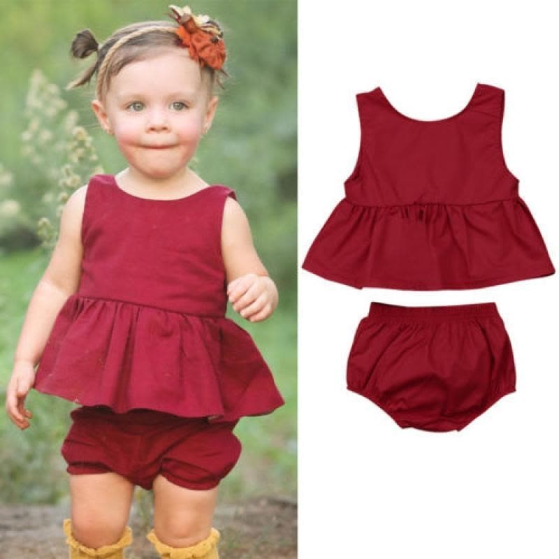 Au Stock Newborn Baby Girls Outfit Clothes Sleeveless Top Dress
