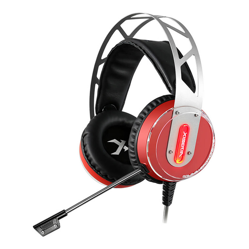 Xiberia X12 Over-ear USB Gaming Headsets Noise Canceling Surrounded Sound Luminous LED Light Headphones with Microphone