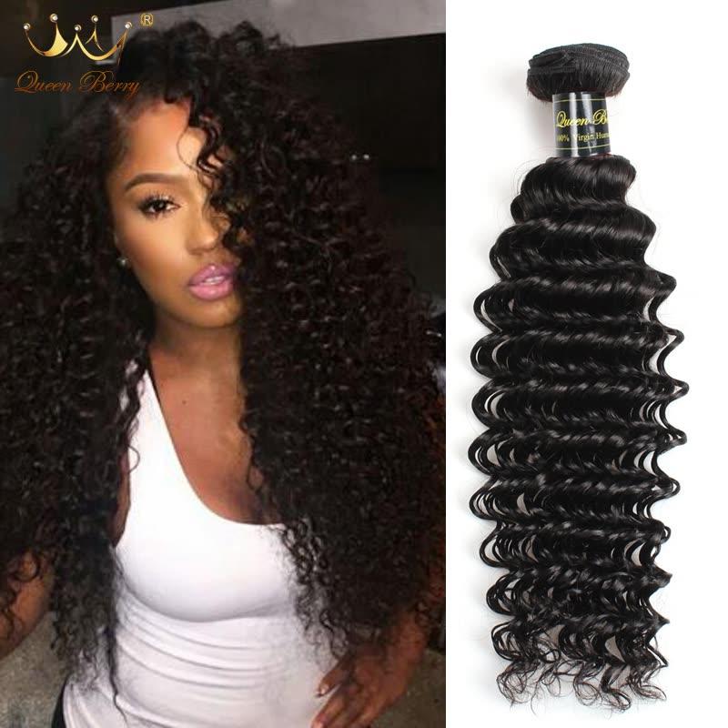 Shop 4pcs Brazilian Virgin Hair Deep Curly Virgin Brazilian Curly