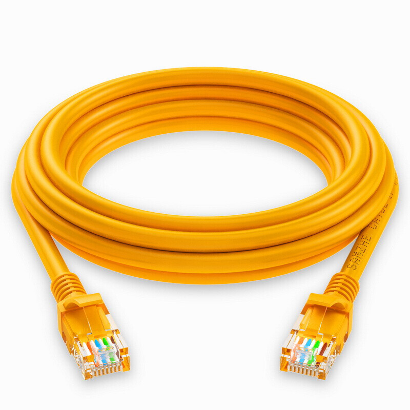 Shanze (SAMZHE) high-speed ultra-five CAT5e class cable network 100 Gigabit network cable computer network jumper super 5 class finished cable yellow 0.5 m YL-5005