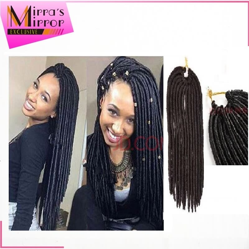 Mirras Mirror 14in 18in Crochet Braid Hair 6pcs Faux Locs 24