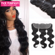Hot Fashion Brazilian Virgin Hair Body Wave Lace Frontal With Virgin Hair 13X4 Ear To Ear Lace Frontal Closure Brazilian Body Wave