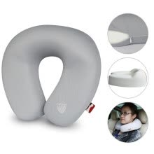 -【Jingdong Supermarket】 iron arm Astro wood headrest car with office neck pillow U-pillow memory cotton single loaded JYJZ-01 red on JD