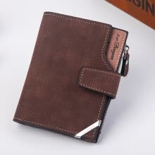 -Men Fashion Solid Color Cross Pattern Hasp Multi Card Position Wallet Coffee on JD