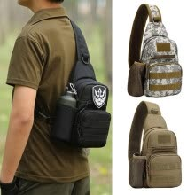 -3color Men Outdoor Tactical Military Crossbody Bag Adjustable Strap Messenger Shoulder Bag Sling Waterproof Chest Bag on JD