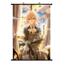 -Ailin Online Violet Evergarden Wall Scroll Poster, Japanese Anime No Fading Fabric Hanging Painting for Home Decor on JD