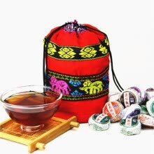 -10 kinds of Different Flavors Tea Chinese Top-Grade Raw and Cooked Pu'Er Tea, Yunnan Puer tea, Slimming Mini Pu'erh Tuocha on JD