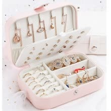 -Earring Ring Jewelry Display Storage Box Case Organizer Flannel Tray Holder Gift on JD