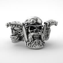 -Fashion Men Vintage Gothic Stainless Steel Punk  Ring Biker Ring Steel Jewelry on JD