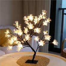 -Fiber Flower Tree Light Black Branch 36LED Home Decoration Holiday Gift on JD