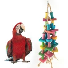 -Bird Parrot Building Blocks Bite-resistant Hanging Cage Swing Pet Chewing Toy on JD