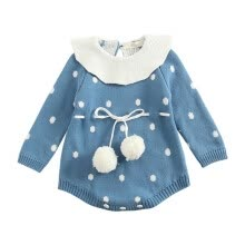 -Cute Infant Baby Girls Clothing Autumn Long Sleeve Cotton Thicken Romper Toddler Kids Fashion Sweater Playsuit Outfits on JD