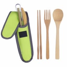 -New brand Freedomgo Portable Travel Bamboo Tableware Set Outdoor Camping Knife Fork Spoon Utensils on JD