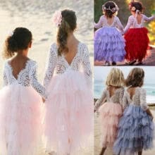-Toddler Kid Baby Girl Lace Dress Party Prom Bridesmaid Party Pageant Dresses USA on JD