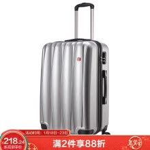 -Swiss Royal Sabre Trolley Case Boarding Case 20 Inch Trolley Case Suitcase Universal Wheel PC Material Multifunctional Business Travel Suitcase Password Box SA-6120 Dark Blue on JD