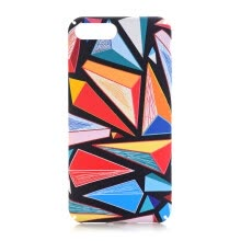 -For iphone 6 4.7inch 5.5inch Colorful Lattice Case Scratch Resistant Back Cover Slim PC Shockproof Phone Shell on JD