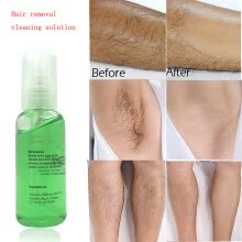 -Cleanse Hair Removal Area Cleansing Solution Gel Beeswax Cleaning Care Liquid Painless Underarm Leg Hand Skin Firming Essence on JD