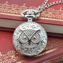 -Vintage Steampunk Retro Bronze Design Pocket Watch Quartz Pendant Necklace Gift on JD