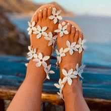 -Women's Ladies Fashion Summer Plus Size Crystal Sandals Flower Casual Shoes on JD