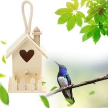 -Hummingbird House Wood Wooden Hanging Standing Birdhouse Outdoor Garden Decor on JD