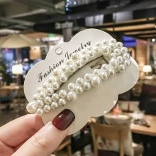 -Korean Simulated Pearl Hair Barrette For Women Fashion Full Beads Clip Hairpins Gift For Girl Hair Accessories Handmade Jewelry on JD