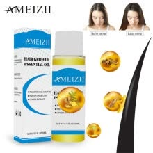 -AMEIZII Powerful Hair Growth Essential Oil Products Organic Ginger Ginseng Extract Hair Serum Dense Treatment Essence 20ML on JD