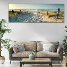 -Ocean Beach Nature Landscape Canvas Print Wall Art Painting For Living Room Deco on JD