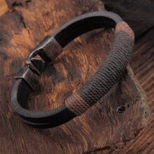 -Fashion Men Braided Leather Bracelet Vintage Charm Bangle Wristband Jewelry on JD