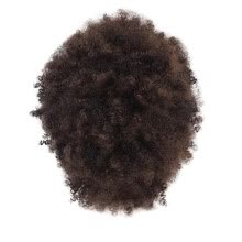 -By Brown Synthetic Curly Wigs for Women Short Afro Wig African American Natural on JD