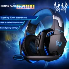power-amplifiers-3.5mm Gaming Headset G2000 Stereo Bass Surround Gaming MIC LED Headsets for PS4 New Xbox One PC with Mic on JD