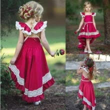 -Kids Girls Party Bow Princess Dress Flower Wedding Bridesmaid Formal Dresses on JD