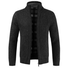 -ESSEN Coat Autumn Winter Men Knitted Sweater Pockets Plush Liner Warm Slim Cardigan Coat on JD