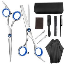 -6 Inch Professional Hair Cutting Scissors Set Cutting Thinning Styling Tool Hair Scissors Stainless Steel Hairdressing Shears on JD