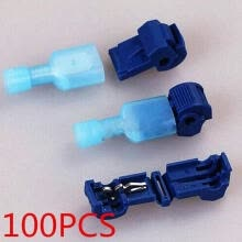 -New 100pcs Blue Quick Splice Lock Wire Terminals Crimp Electrical Cable Connector on JD