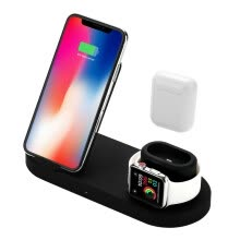 -4 In 1 Wireless Charger Station 10W Qi Fast Wireless Charger Stand Compatible With IPhone Samsung Apple watch xiaomi on JD